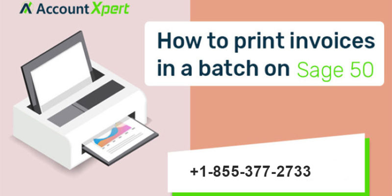 print invoices in batch on Sage 50